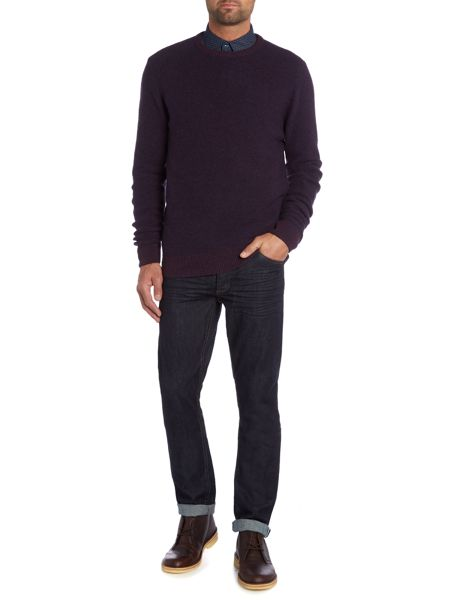 Criminal Robin Textured Crew Neck Pull Over Jumpers