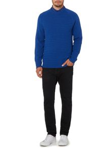 Criminal Ockley Textured Crew Neck Jumper
