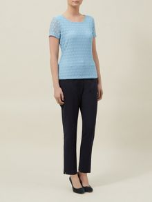Circle Lace Jersey Top