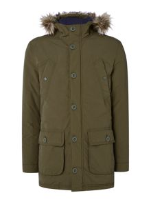 Criminal Marvin Fleece Lined Parka Coat