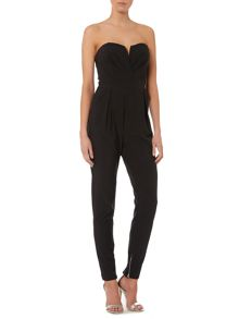 Strapless sweetheart jumpsuit