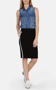 Karen Millen Sporty side stripe skirt