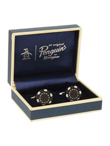 Original Penguin Rodium Plated Cufflinks
