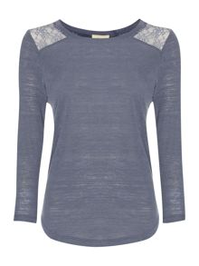 Nordic Lace Inset Tee
