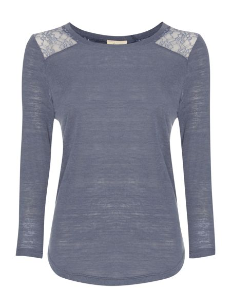 Linea Weekend Nordic Lace Inset Tee