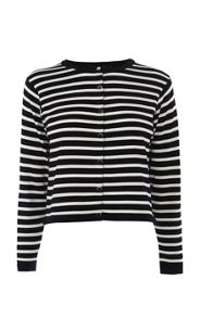 Clean stripe knits cardigan