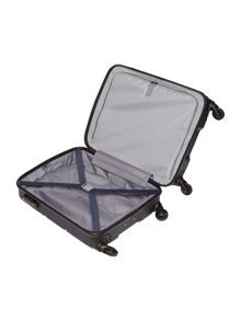 Saturn navy 4 wheel hard cabin suitcase