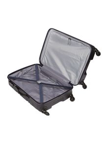 Saturn navy 4 wheel hard medium suitcase