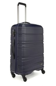 Antler Saturn navy 4 wheel hard medium suitcase