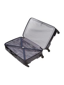Saturn navy 4 wheel hard large suitcase