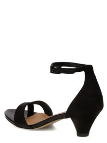 Suedette Low Heel Sandals