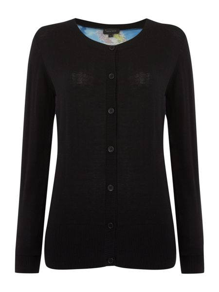 Pied a Terre Blurred floral cardigan