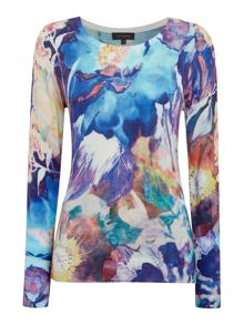 Pied a Terre Blurred floral jumper