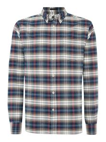 Howick Maynard Checked Button Down Long Sleeve Shirt