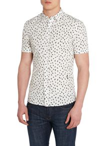 Pattern Classic Fit Short Sleeve Classic Collar S