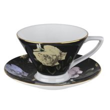 Ted Baker Rosie Lee Teacup & Saucer Black