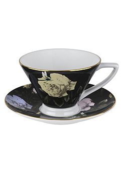 Rosie Lee Teacup & Saucer Black