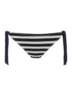 Stripe Side Tie Bikini Brief