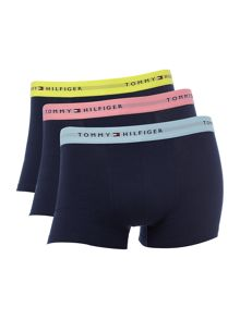3 Pack Contrast Waistband Trunk