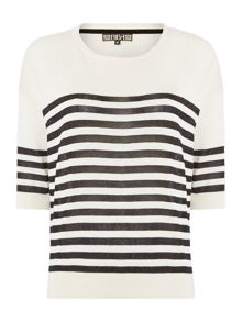 Striped oversized jumper