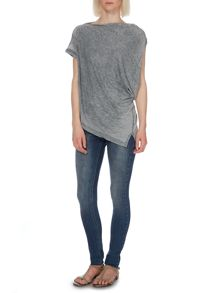 Burnout o/s asymmetric tee