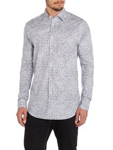 Paul Smith London The Byard Leaf Pattern Slim Fit Shirt