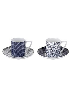 Portmeirion Espresso Cup & Saucer Set of 2