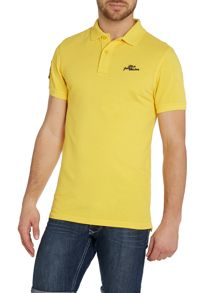 Plain Grandad Collar Slim Fit Polo Shirt
