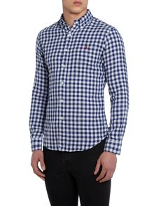 Slim Fit Check Long Sleeve Shirt