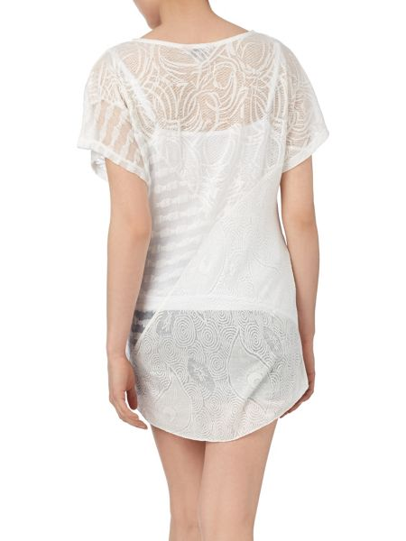 Phase Eight Lowri lace cutabout longline top