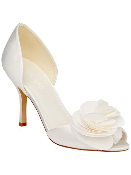 Phase Eight Ariel chiffon trim shoes