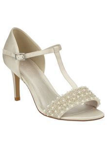Anna pearl satin sandals