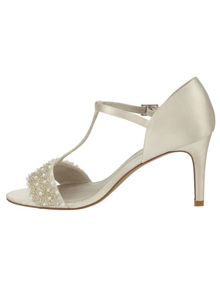Phase Eight Anna pearl satin sandals