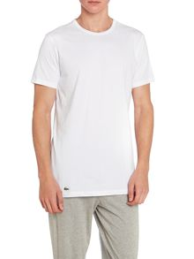 Lacoste 2 Pack Plain Crew Neck Nightwear T-Shirt