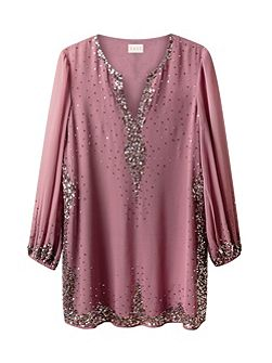 Sequin Border Tunic
