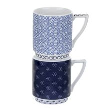 Ted Baker Portmeirion stacking mug set of 2 balfour I & II