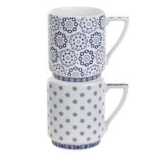Ted Baker Portmeirion stacking mug set of 2 balfour V & VI