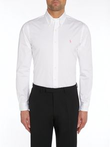 Slim Fit Plain Long Sleeve Dress Shirt