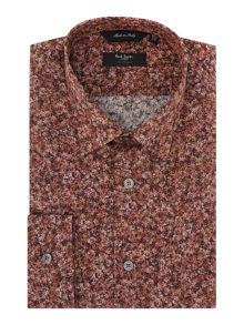 Paul Smith London The Byard Rose Print Slim Fit Shirt