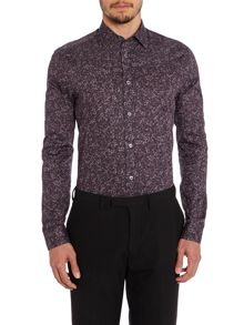 The Byard Rose Print Slim Fit Shirt