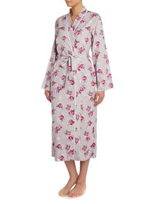 Nora Rose Purple Floral Robe