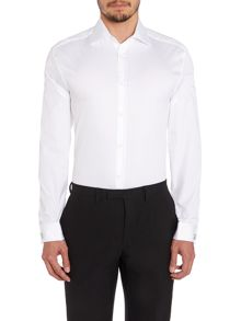The Byard Textured Double Cuff Slim Fit Shirt