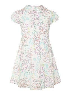 French Connection Girls Floral Dress With Cap Sleeve
