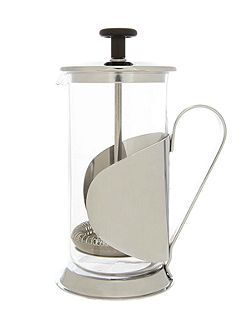 3 cup cafetiere silver