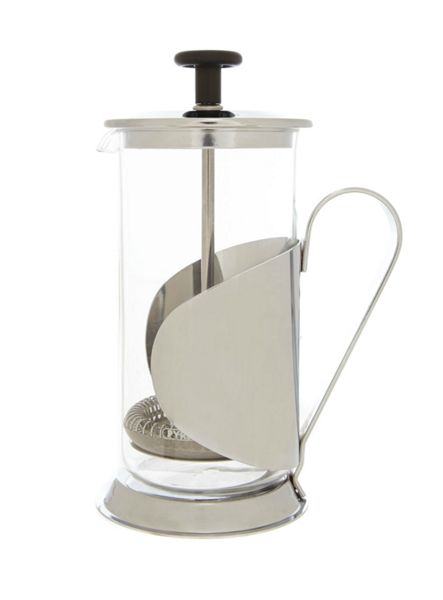 Linea 3 cup cafetiere silver