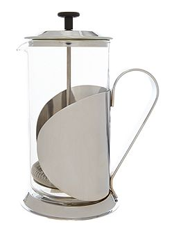 8 cup cafetiere silver