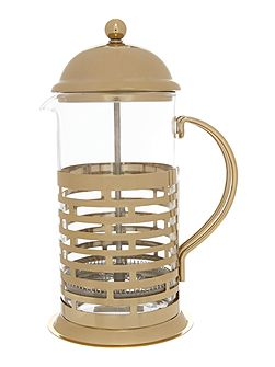 8 cup cafetiere gold