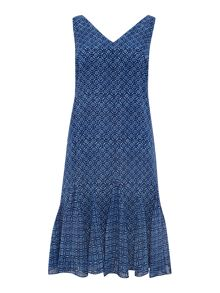 Lauren Ralph Lauren Kamia sleeveless vneck dress with floaty hem