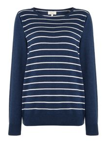 Linea Weekend Easy Marl Stripe Knit Jumper