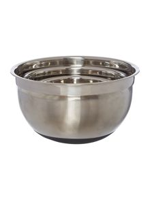Metal nested mixing bowls